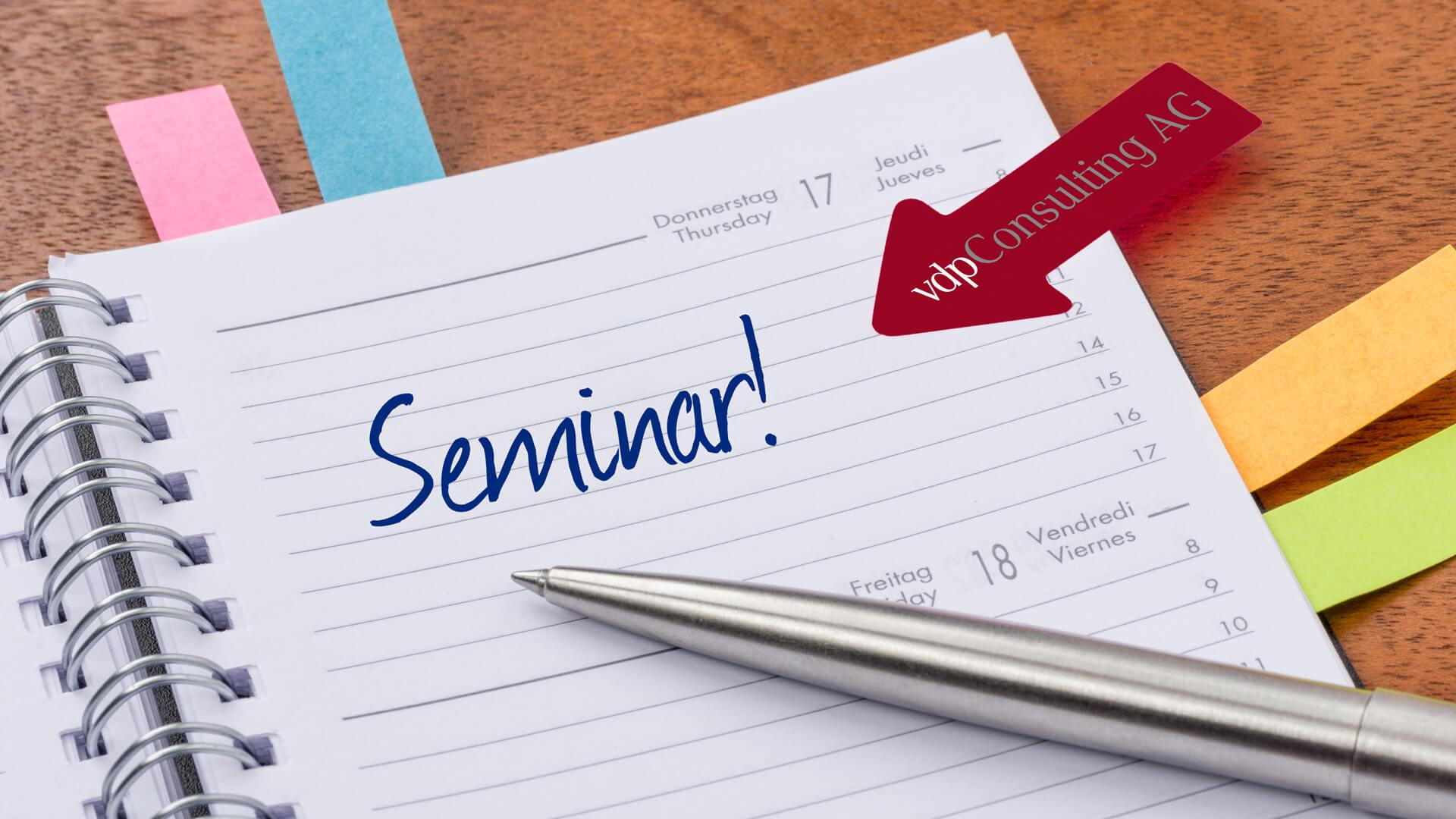 Seminare 2021 der vdpConsulting AG Online
